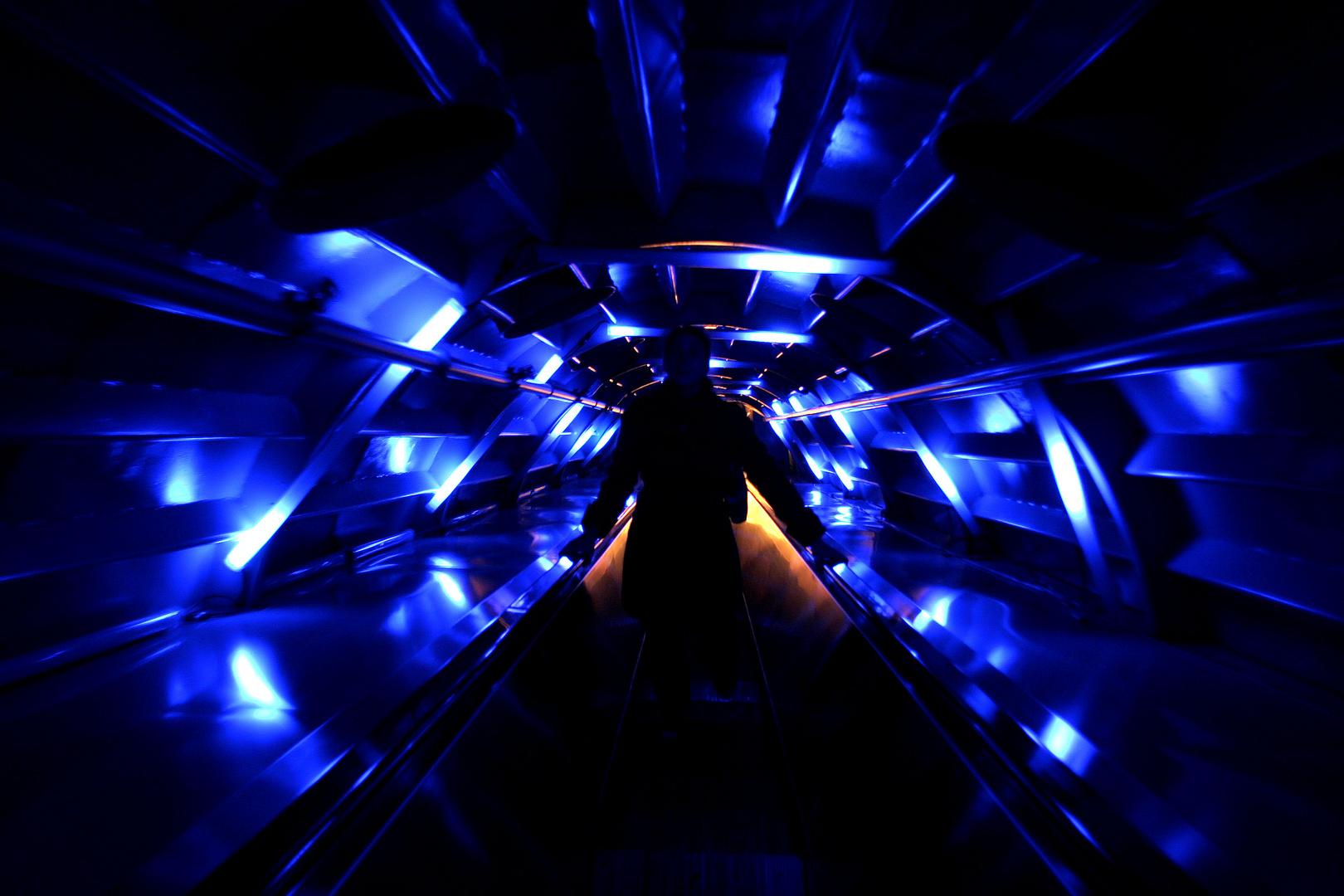 bleu dans l'Atomium