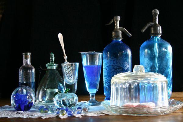 Bleu transparent
