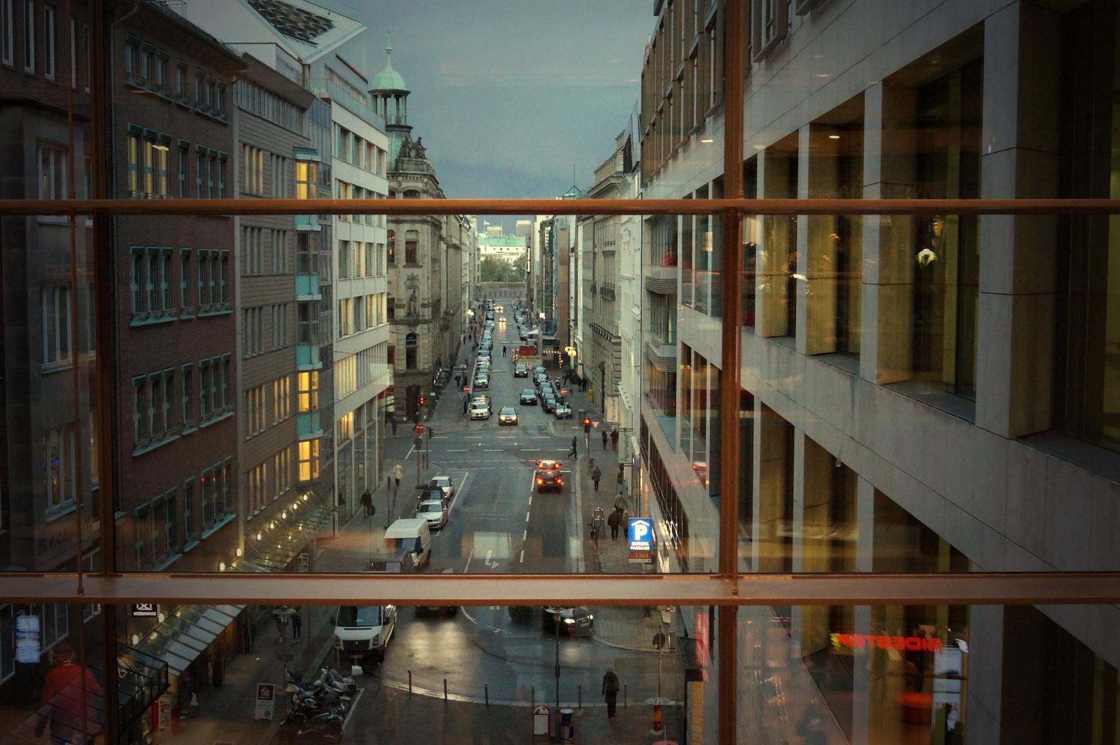 Blich aus dem Europa Center in Hamburg