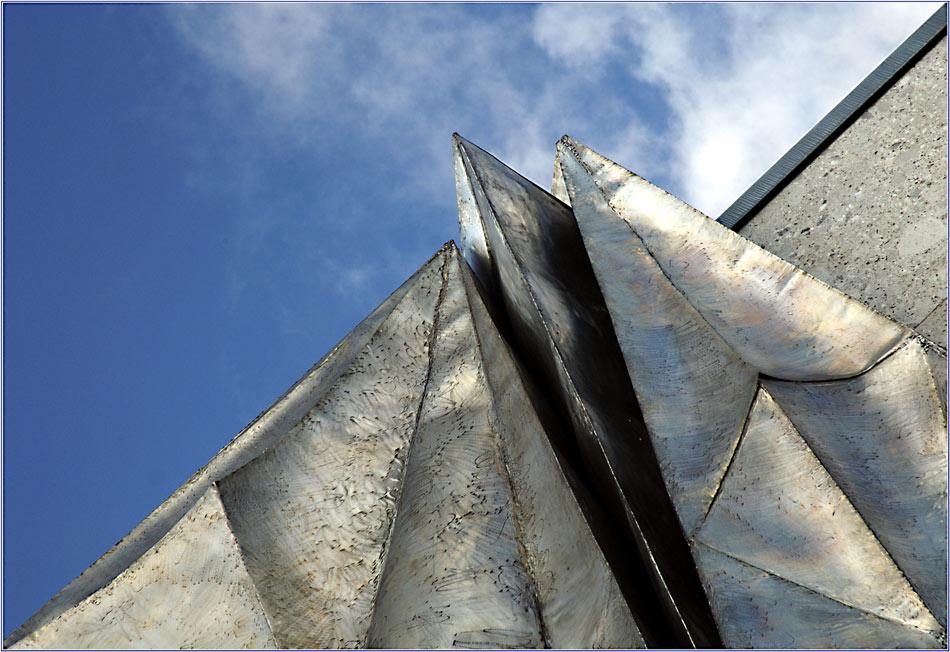 Blick (4) auf eine Stahlplastik (Detail)