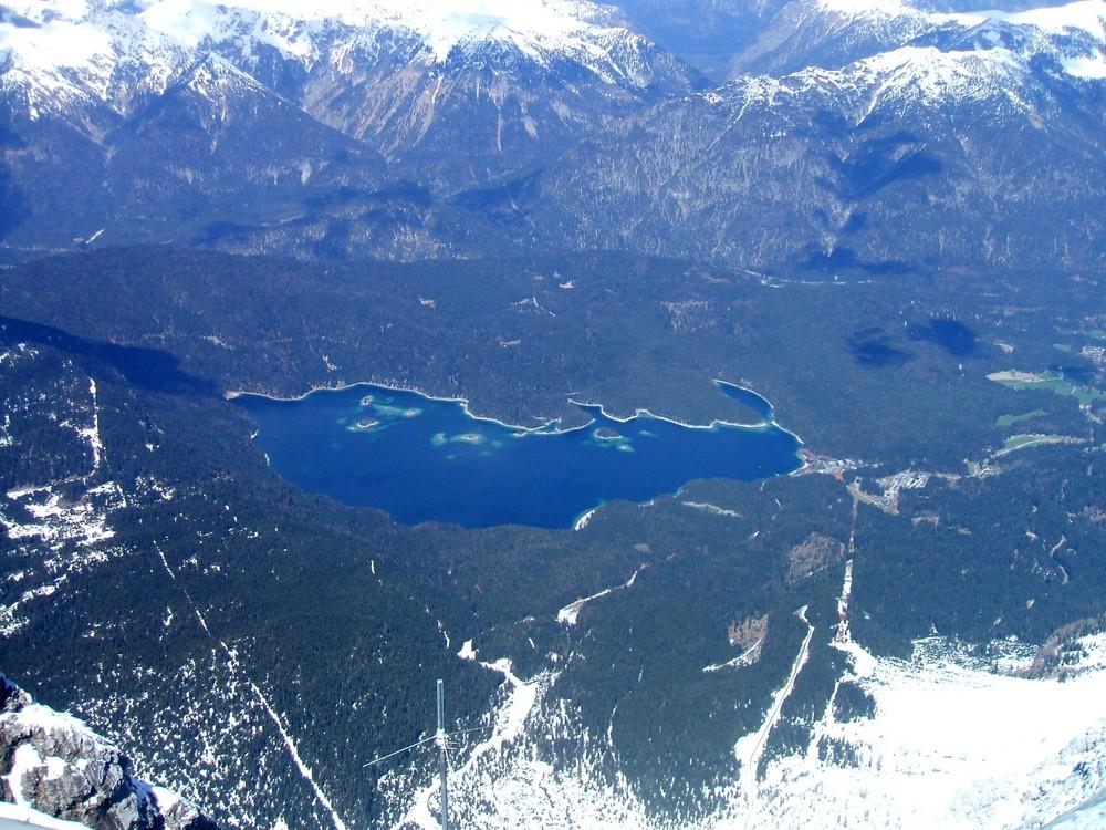 Blick am Eibsee von Zugspitze
