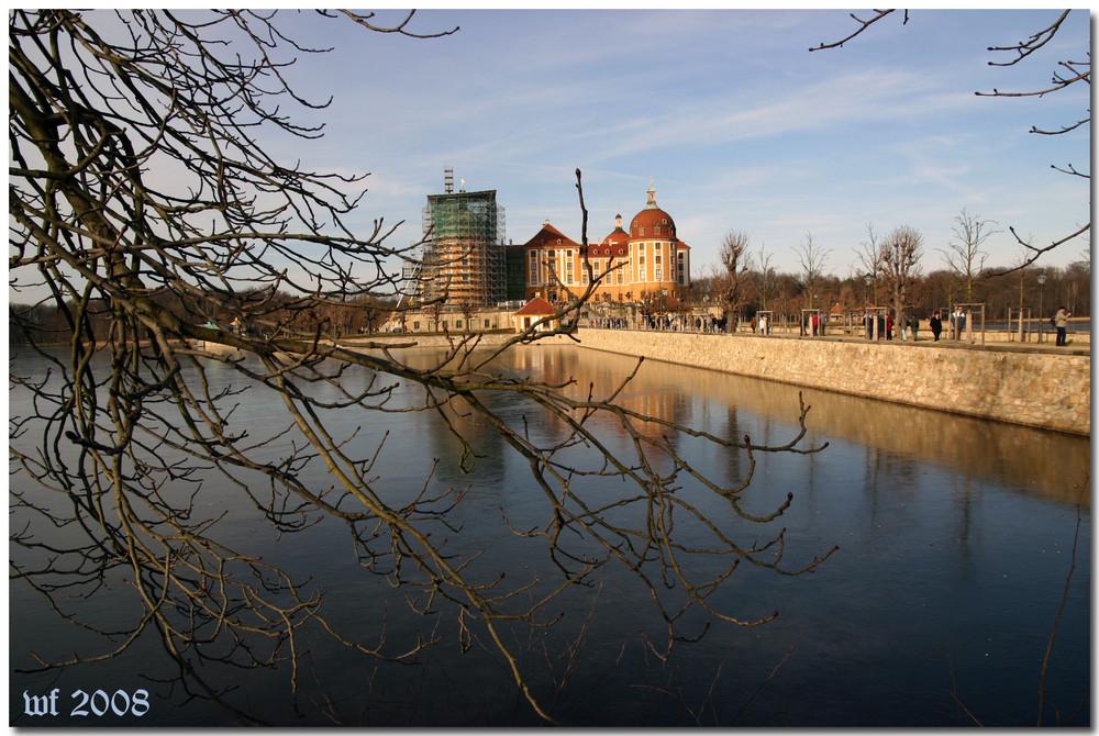 Blick aud das Jagd- und Lustschloss Moritzburg