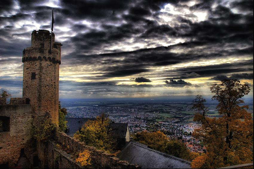 Blick  Auerbach Schloss