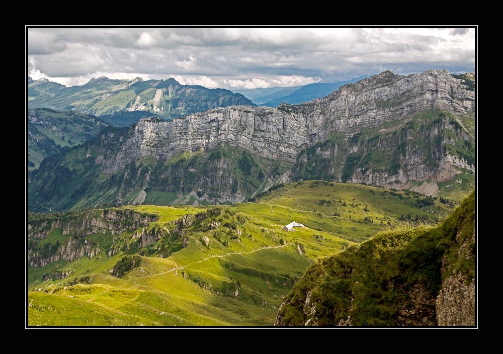 Blick auf Alp Oberchäseren