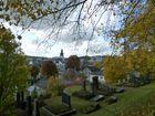 Blick auf Attendorn vom jüdischen Friedhof aus
