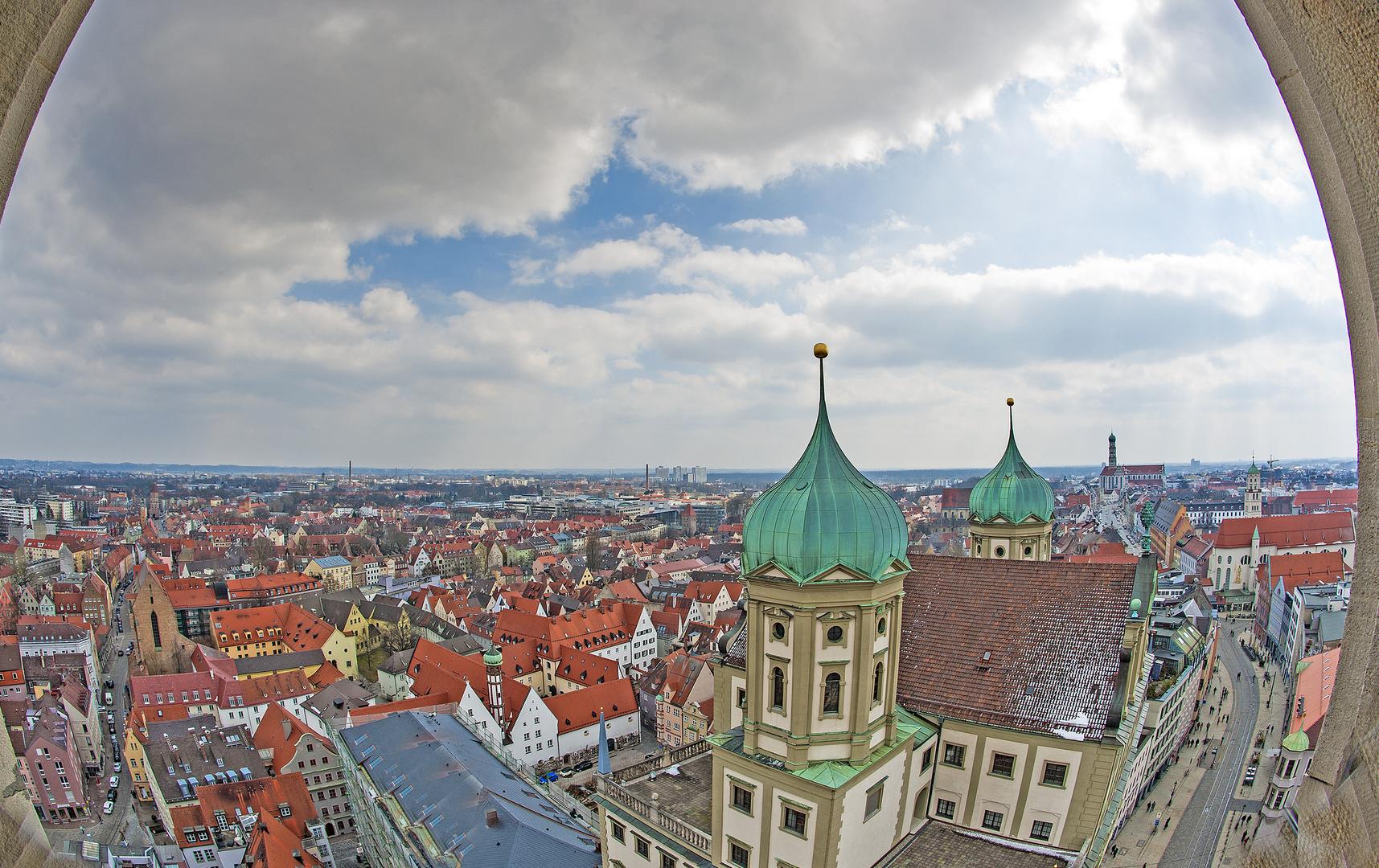 Blick auf Augsburg - meine Heimatstadt
