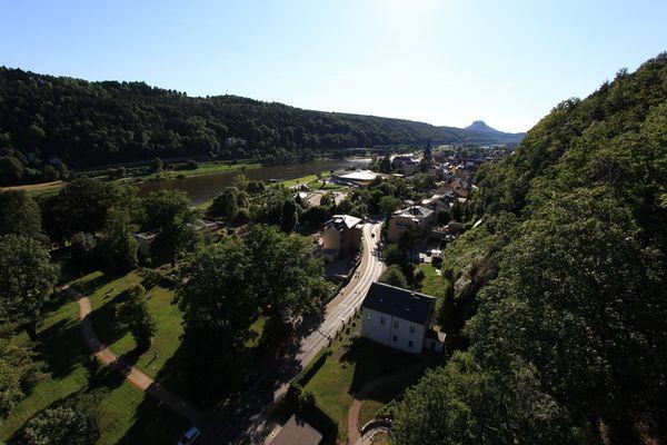 Blick auf Bad Schandau elbabwärts