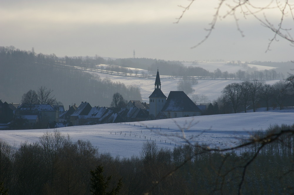 Blick auf Bärenstein/Osterzgebirge