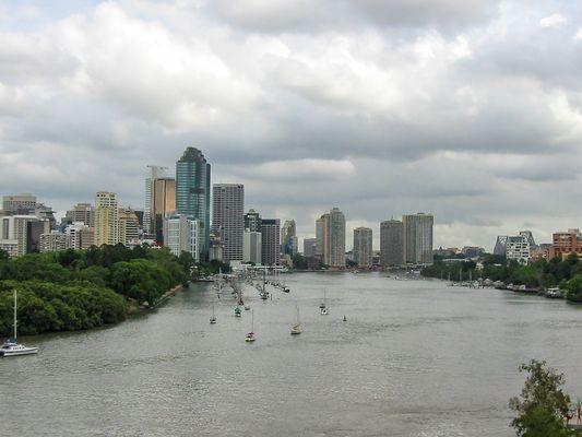 Blick auf Brisbane...