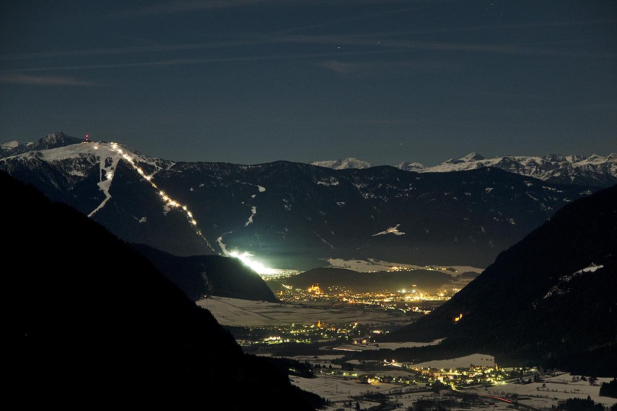 Blick auf Bruneck ...