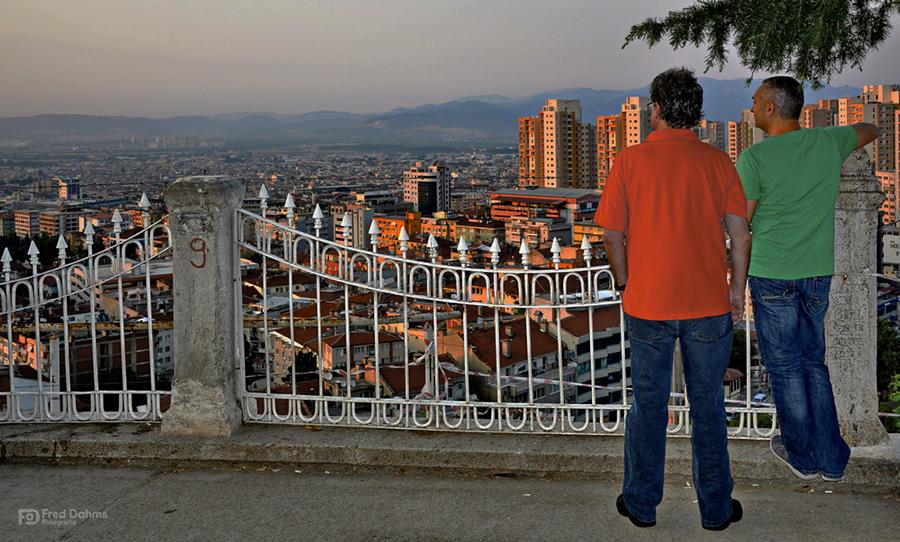 Blick auf Bursa, Türkei