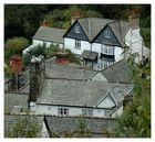 Blick auf Clovelly Häuser