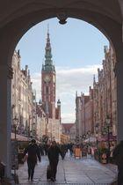 Blick auf das Danziger Rathaus