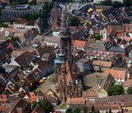Blick auf das Freiburger Münster aus ca. 300 Metern