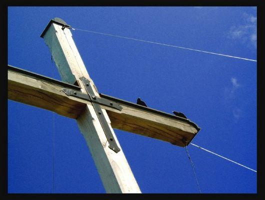 Blick auf das Kreuz