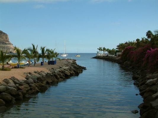 Blick auf das Merr in Puerto de Mugan