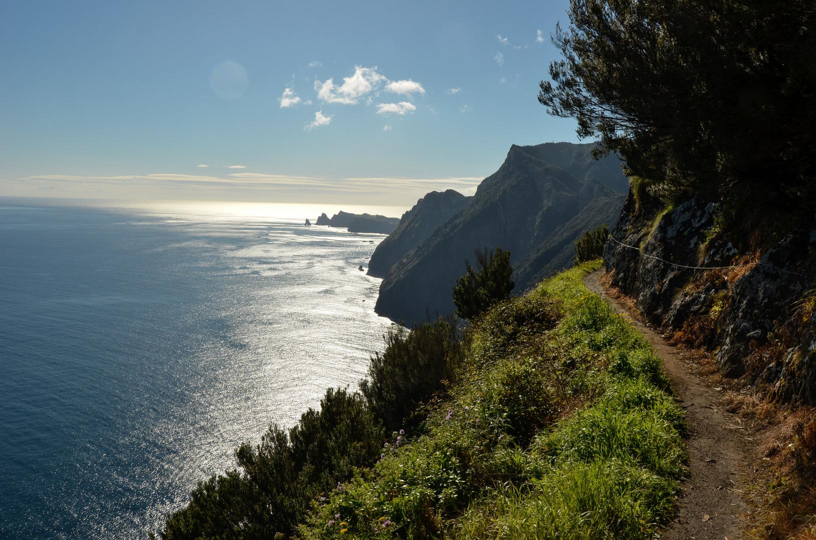 Blick auf das Ostkap von Madeira