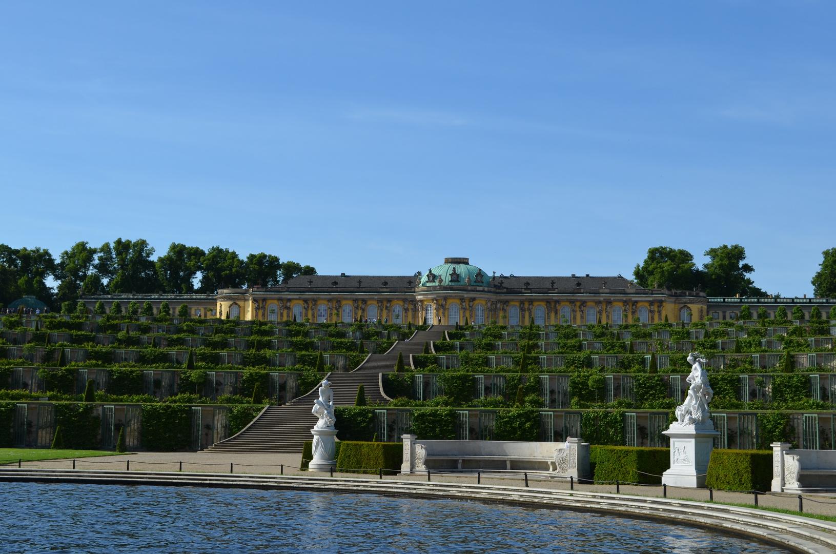 Blick auf das Schloss Sanssouci