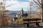 Blick auf das Schloss Wernigerode im Spätherbst