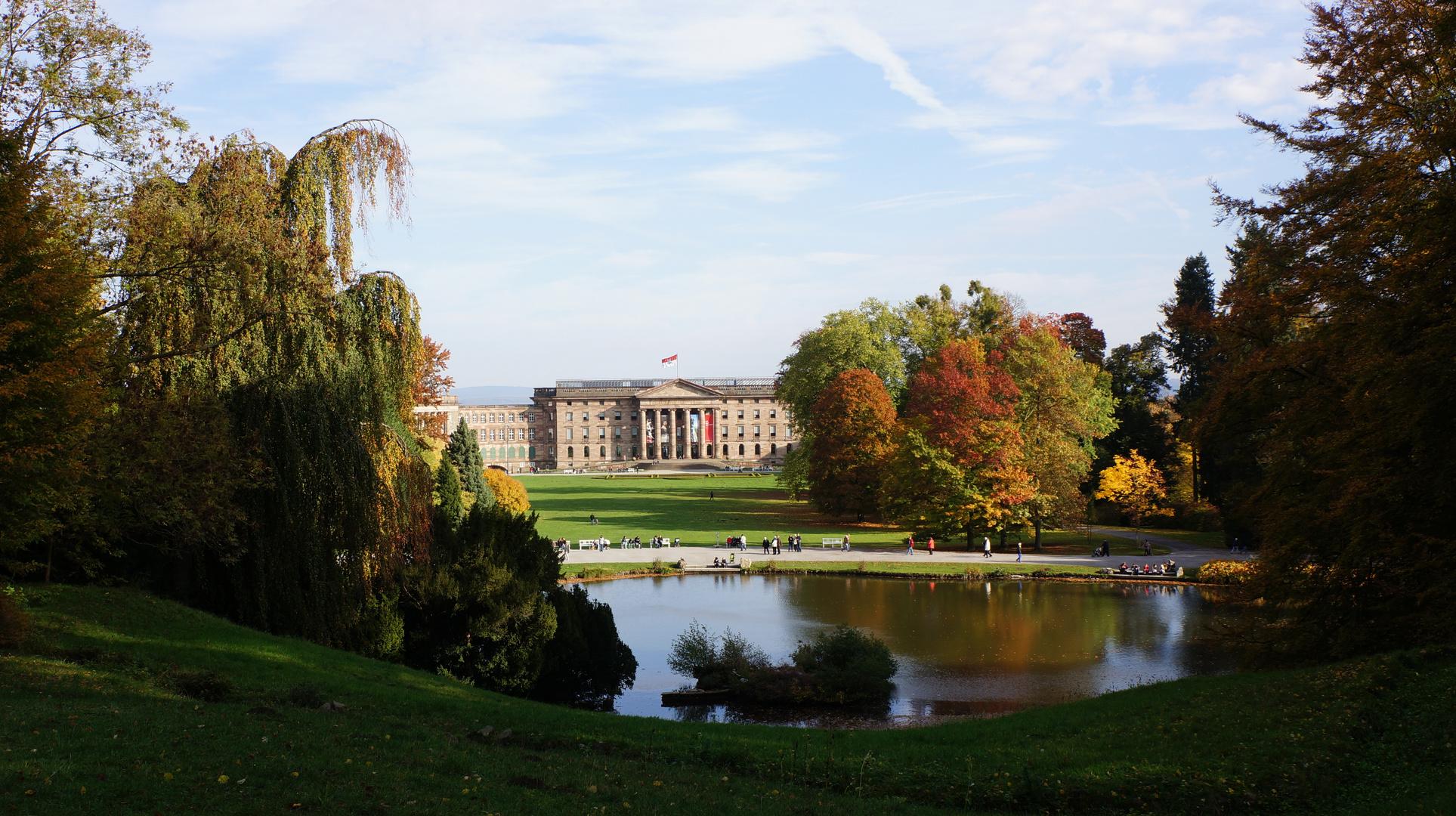 Blick auf das Schloss Wilhelmshöhe