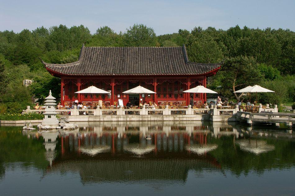 Blick auf das Teehaus
