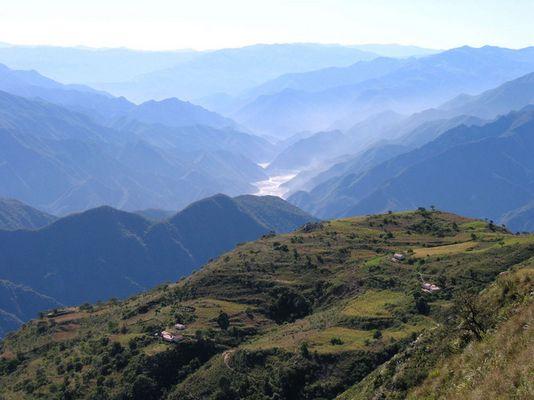 Blick auf dem Río Pilaya