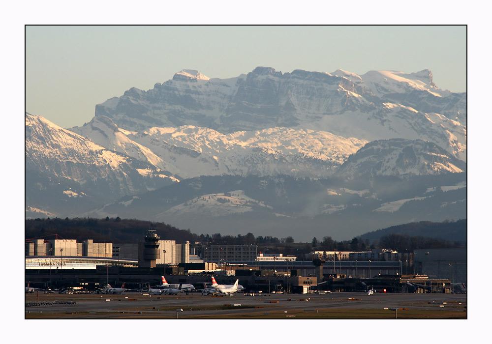 Blick auf den Airport