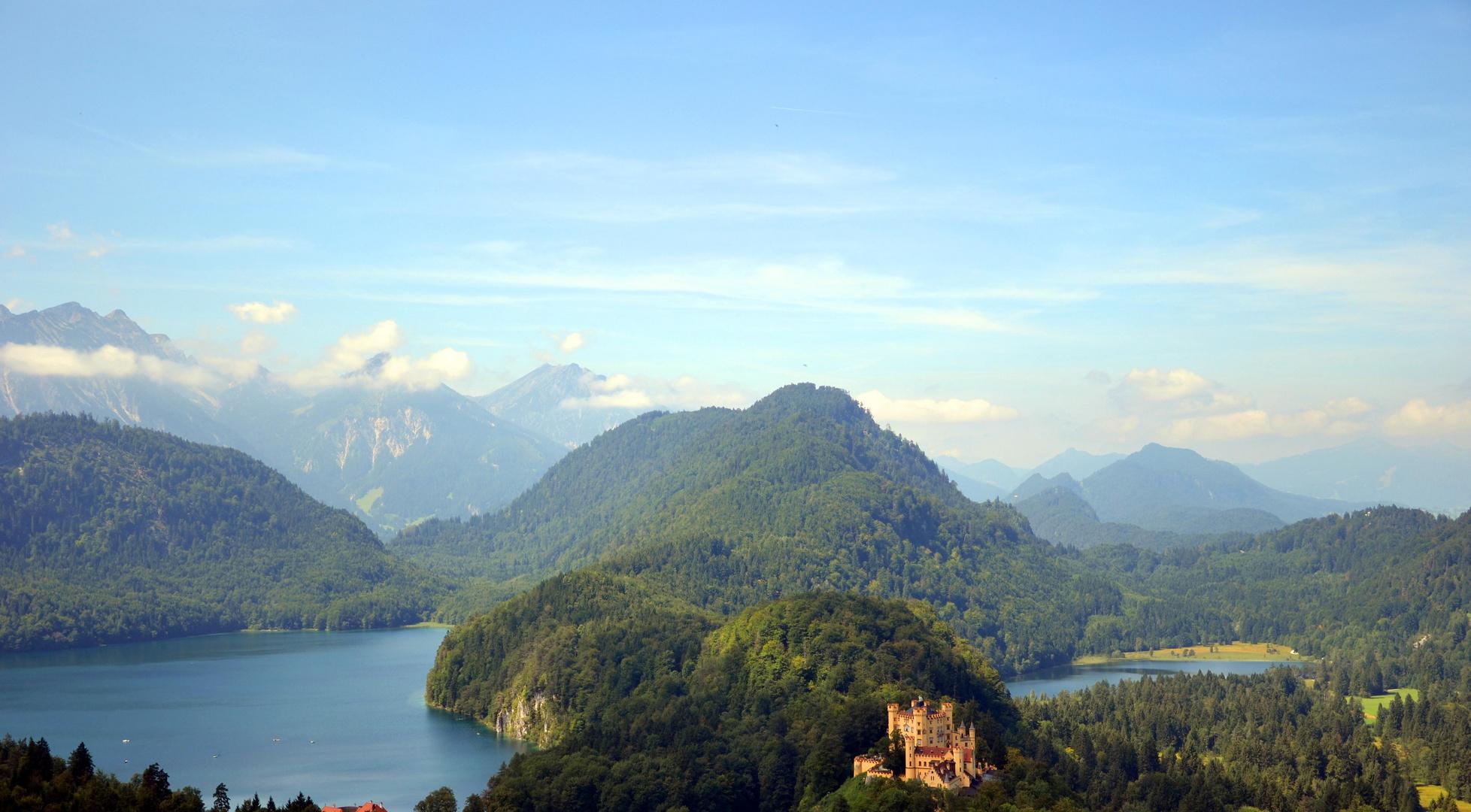 Blick auf den Alpsee in Hohenschwangau