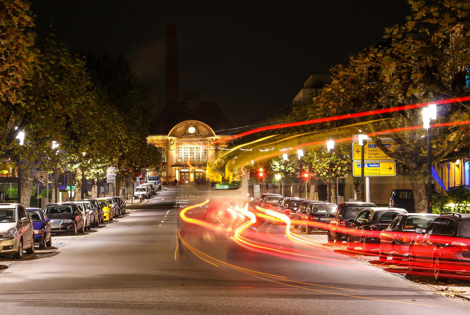 Blick auf den Bahnhof in Bad Nauheim