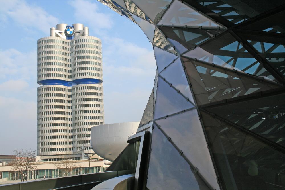 Blick auf den BMW Tower