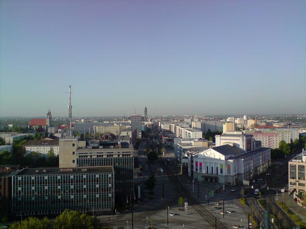 Blick auf den Dom vom Dach des Campustowers