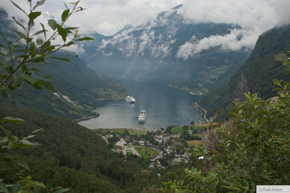 Blick auf den Geiranger (Fjord)