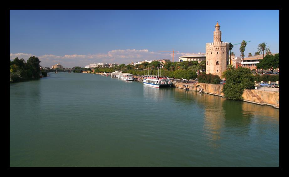 Blick auf den Guadalquivir in Sevilla