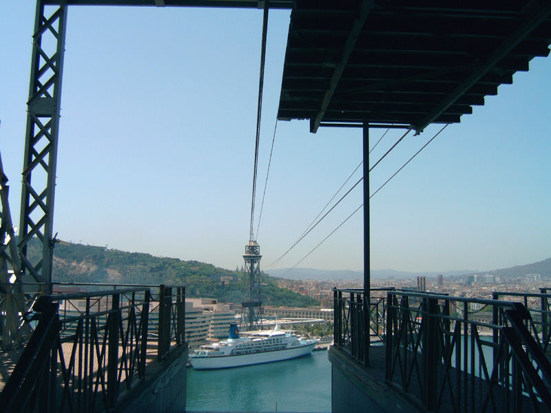 Blick auf den Hafen von Barcelona!