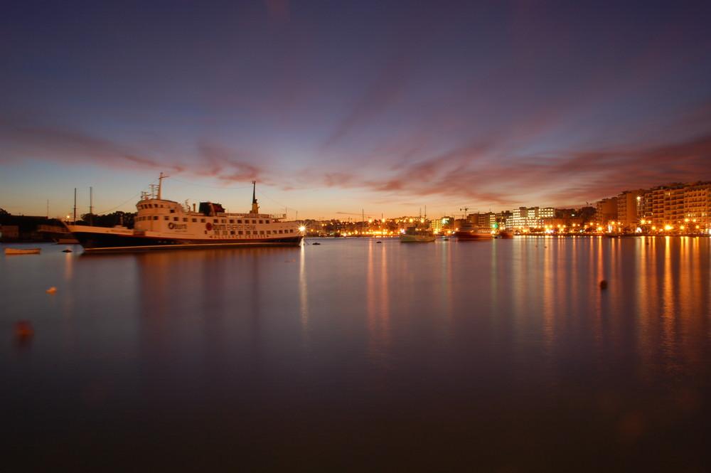 Blick auf den Hafen von Sliema