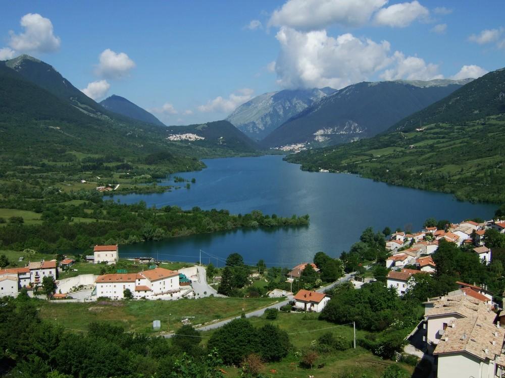 Blick auf den Lago di Barrea