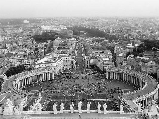 Blick auf den Petersplatz