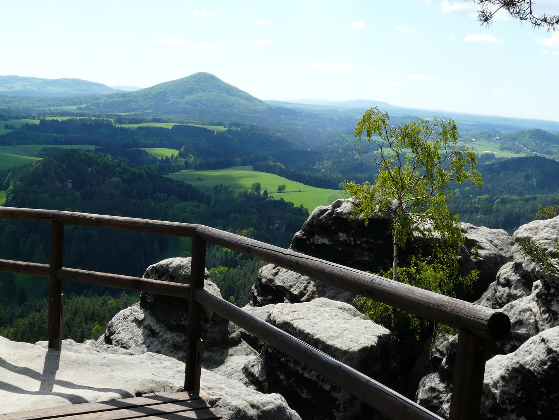 Blick auf den Rosenberg in der Böhmischen Schweiz