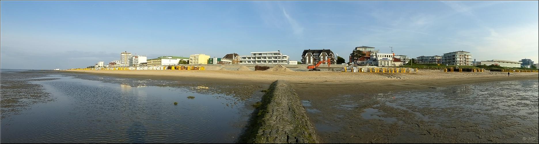 Blick auf den Strand....