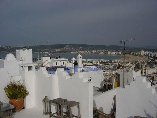 Blick auf den Strand von Tanger