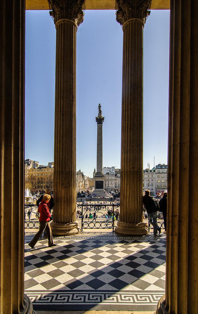Blick auf den Trafalgar Square