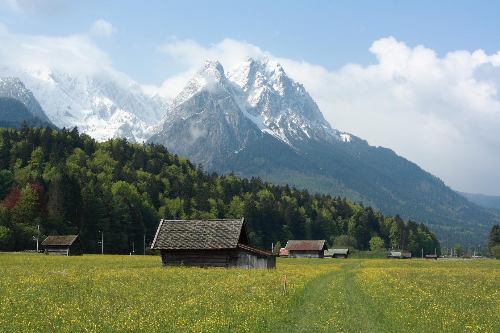 Blick auf den Waxenstein von Garmisch