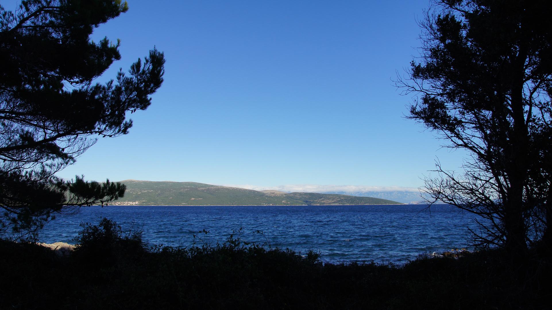 Blick auf die Adria von der Insel Krk