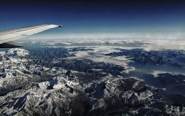 Blick auf die Alpen