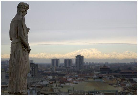 - Blick auf die Alpen -