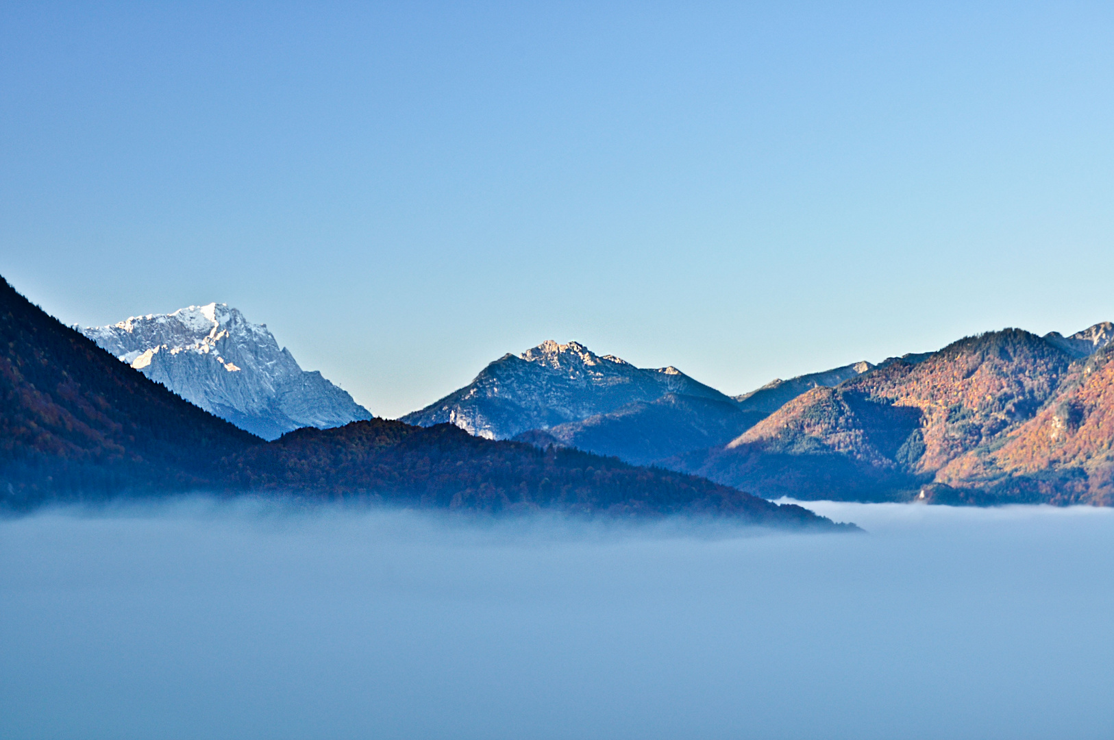 Blick auf die Alpen von Garmisch- Partenkirchen