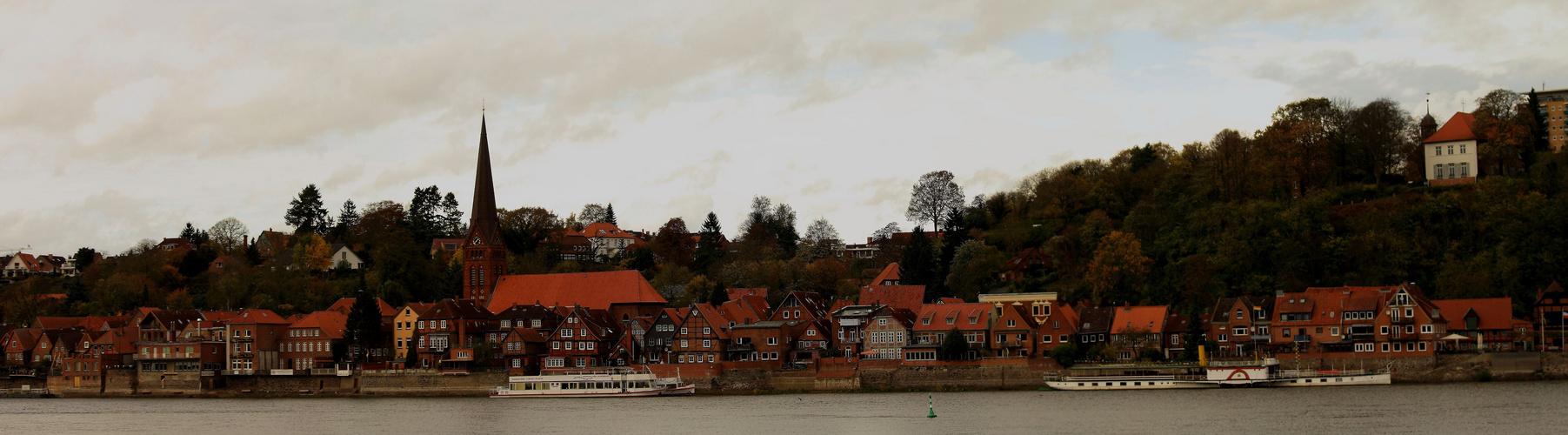 Blick auf die Alstadt von Lauenburg (Elbe)