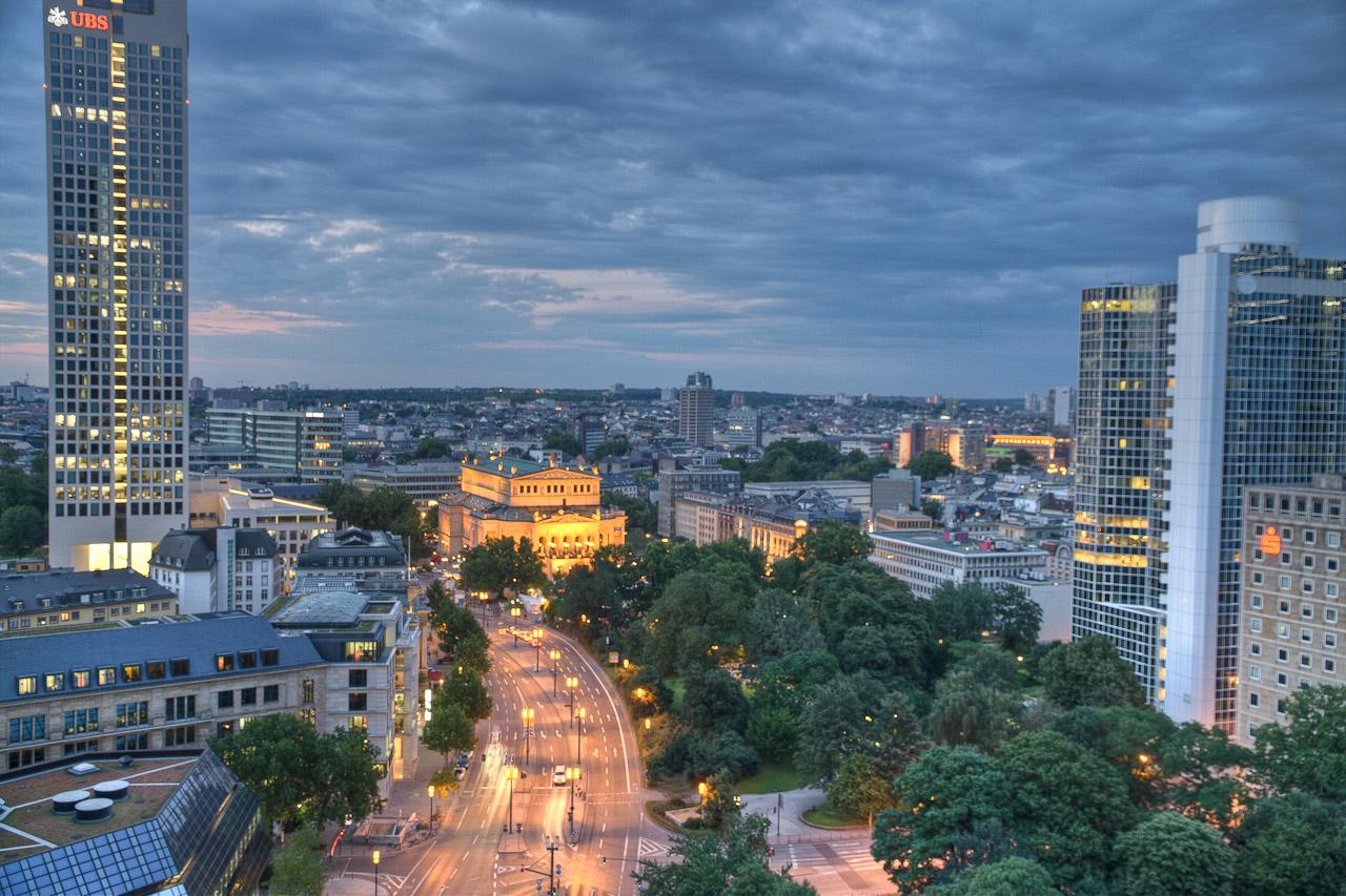 Blick auf die Alte Oper