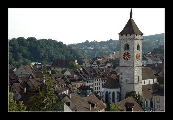 Blick auf die Altstadt Schaffhausen