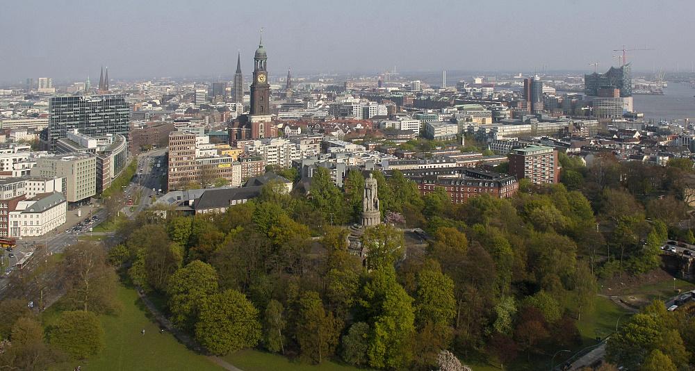 Blick auf die Altstadt von Hamburg